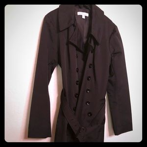 Black trench coat, great for rainy days!